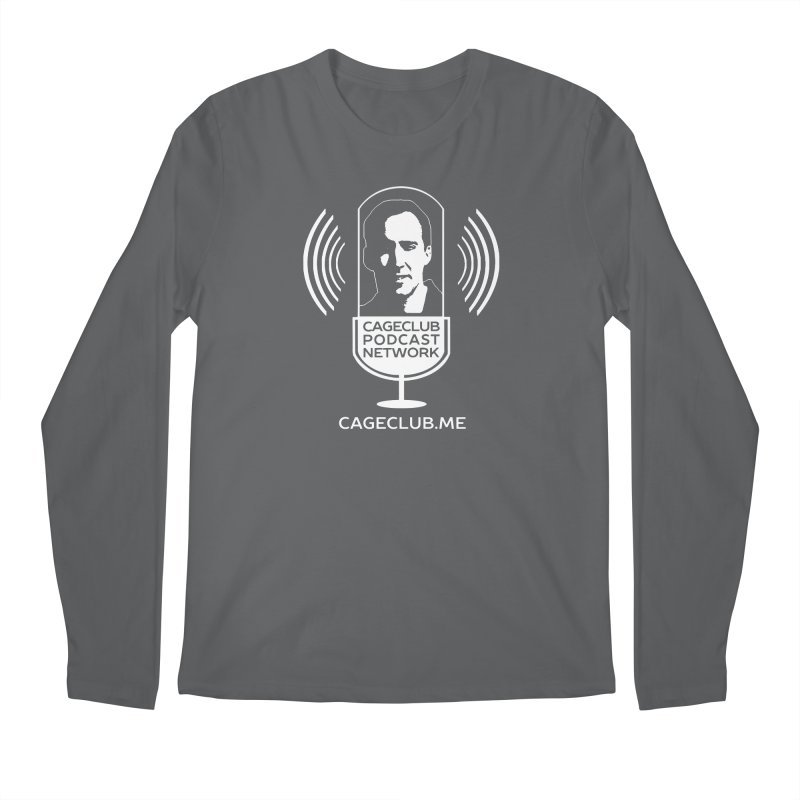 I ❤️ The CageClub Podcast Network (white logo) Men's Longsleeve T-Shirt by The CageClub Podcast Network Shop