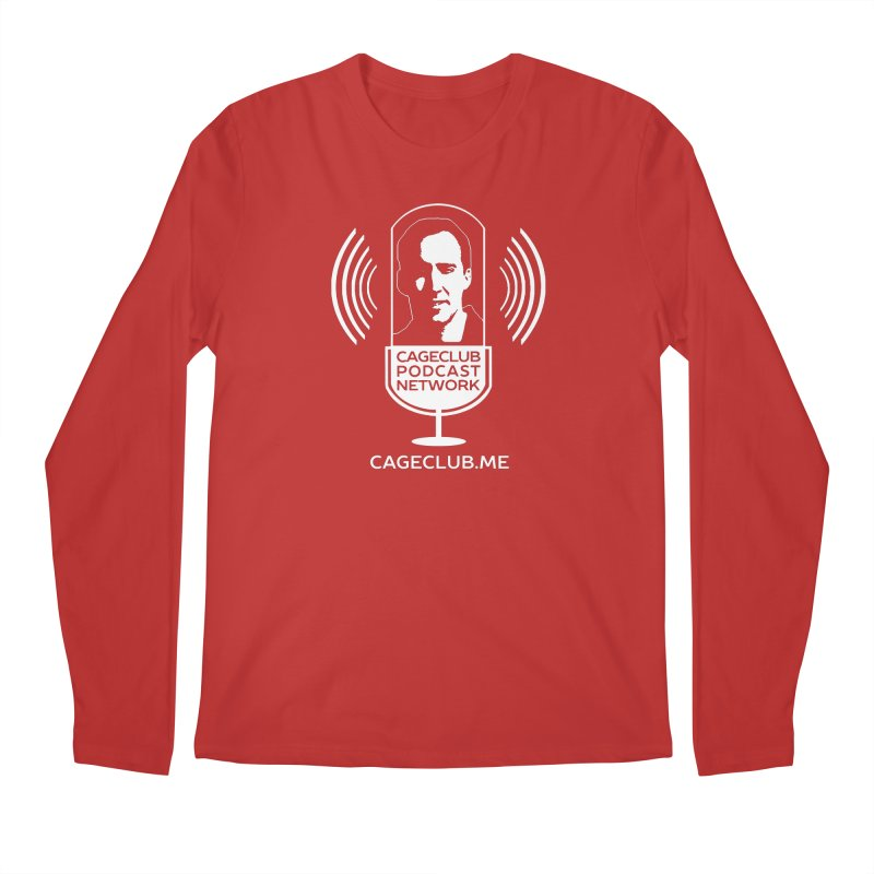 I ❤️ The CageClub Podcast Network (white logo) Men's Regular Longsleeve T-Shirt by The CageClub Podcast Network Shop