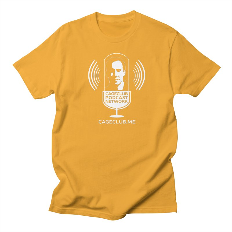 I ❤️ The CageClub Podcast Network (white logo) Women's Regular Unisex T-Shirt by The CageClub Podcast Network Shop