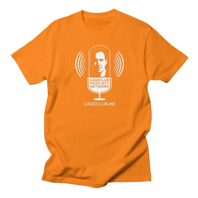 I ❤️ The CageClub Podcast Network (white logo) Men's T-Shirt by The CageClub Podcast Network Shop