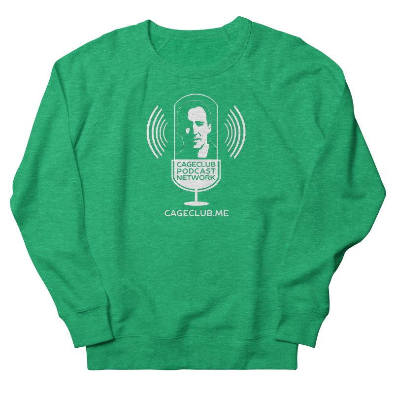 I ❤️ The CageClub Podcast Network (white logo) Women's Sweatshirt by The CageClub Podcast Network Shop