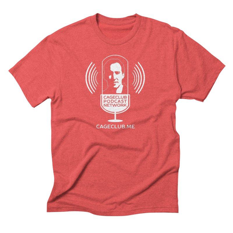 I ❤️ The CageClub Podcast Network (white logo) Men's Triblend T-Shirt by The CageClub Podcast Network Shop