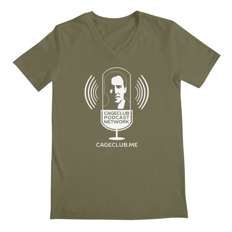 I ❤️ The CageClub Podcast Network (white logo) Men's Regular V-Neck by The CageClub Podcast Network Shop