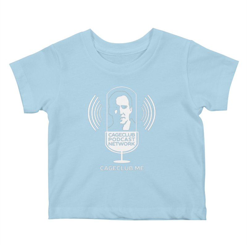 I ❤️ The CageClub Podcast Network (white logo) Kids Baby T-Shirt by The CageClub Podcast Network Shop