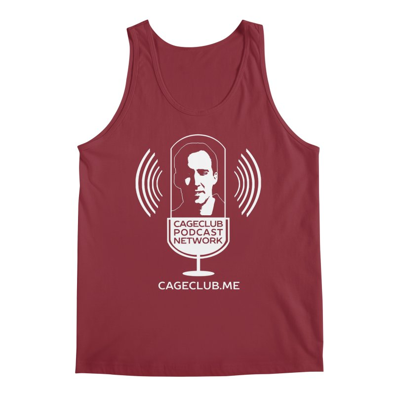 I ❤️ The CageClub Podcast Network (white logo) Men's Tank by The CageClub Podcast Network Shop