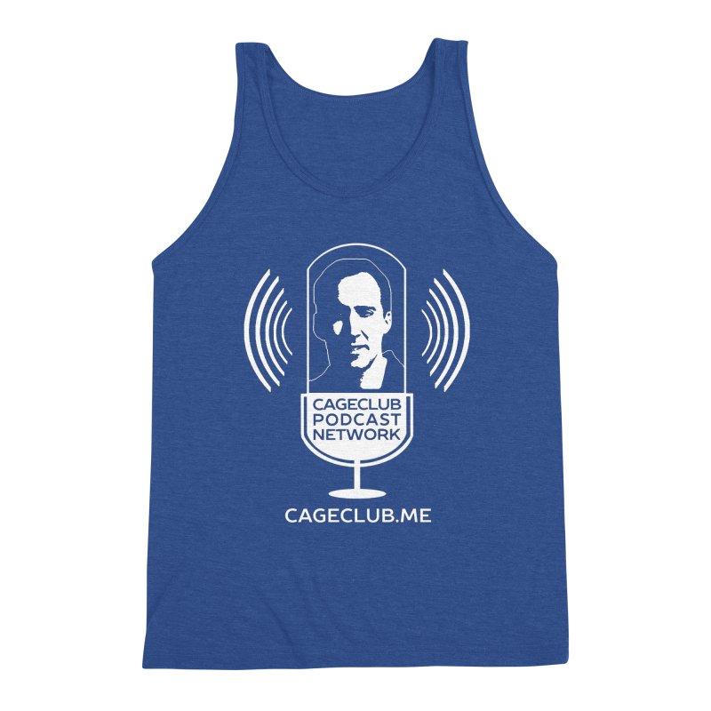 I ❤️ The CageClub Podcast Network (white logo) Men's Triblend Tank by The CageClub Podcast Network Shop
