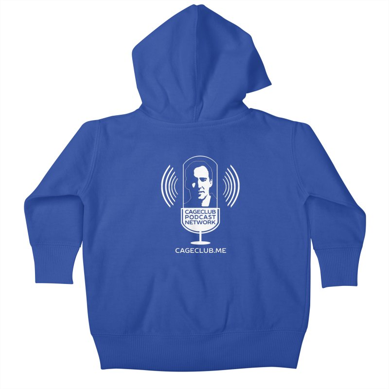 I ❤️ The CageClub Podcast Network (white logo) Kids Baby Zip-Up Hoody by The CageClub Podcast Network Shop
