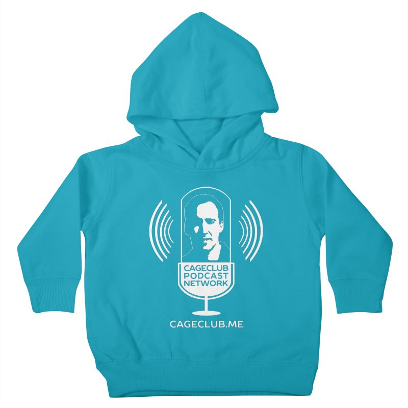 I ❤️ The CageClub Podcast Network (white logo) Kids Toddler Pullover Hoody by The CageClub Podcast Network Shop