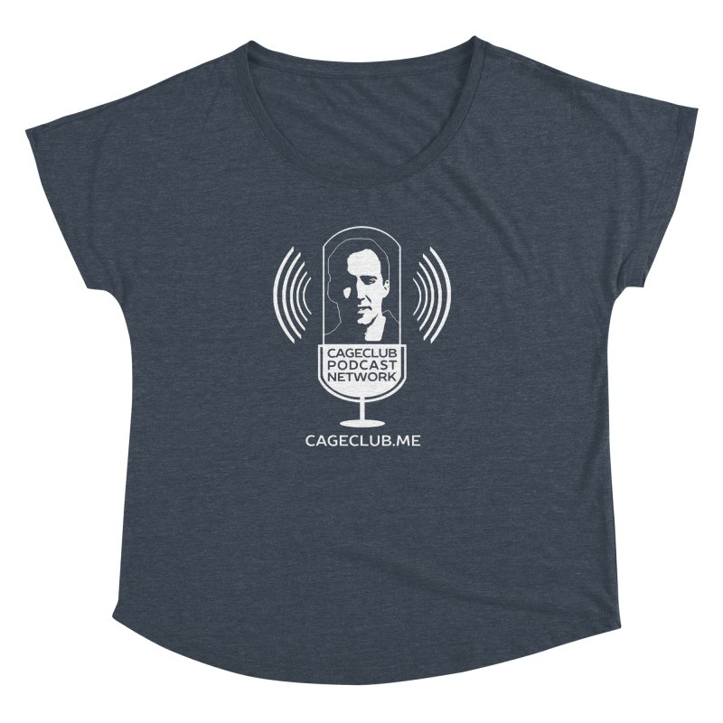 I ❤️ The CageClub Podcast Network (white logo) Women's Dolman Scoop Neck by The CageClub Podcast Network Shop