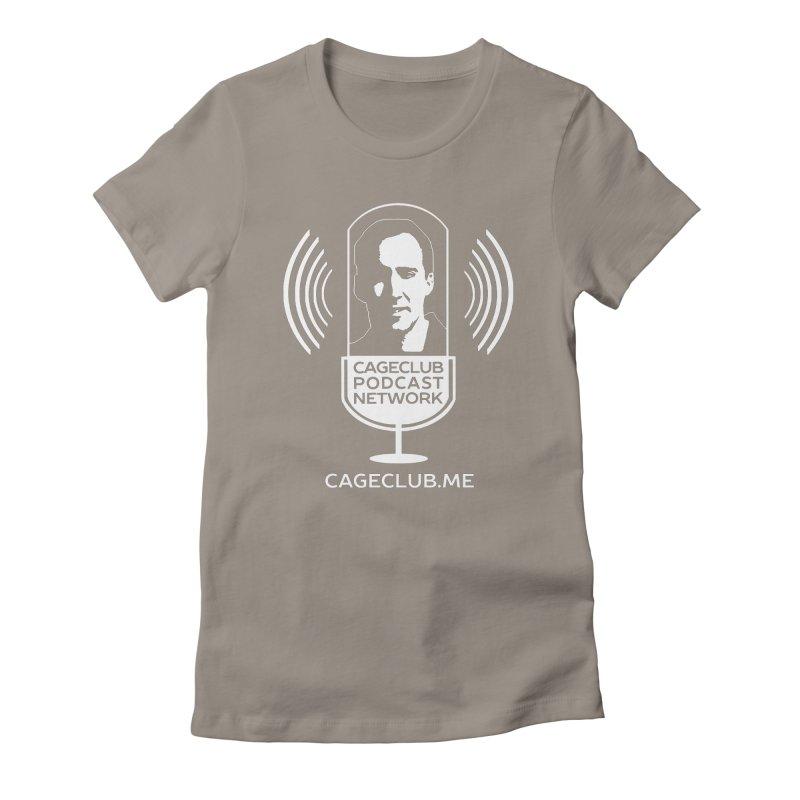 I ❤️ The CageClub Podcast Network (white logo) Women's Fitted T-Shirt by The CageClub Podcast Network Shop