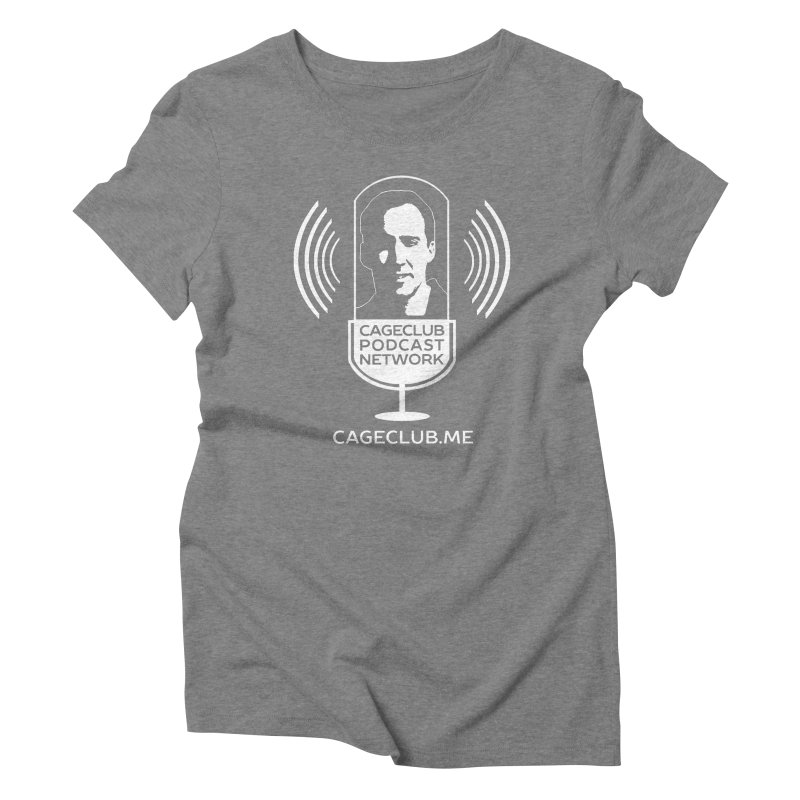 I ❤️ The CageClub Podcast Network (white logo) Women's Triblend T-Shirt by The CageClub Podcast Network Shop