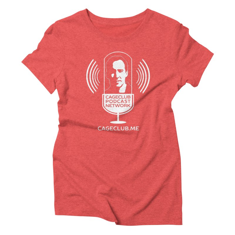 I ❤️ The CageClub Podcast Network (white logo) Women's Triblend T-Shirt by The CageClub Podcast Network Shop