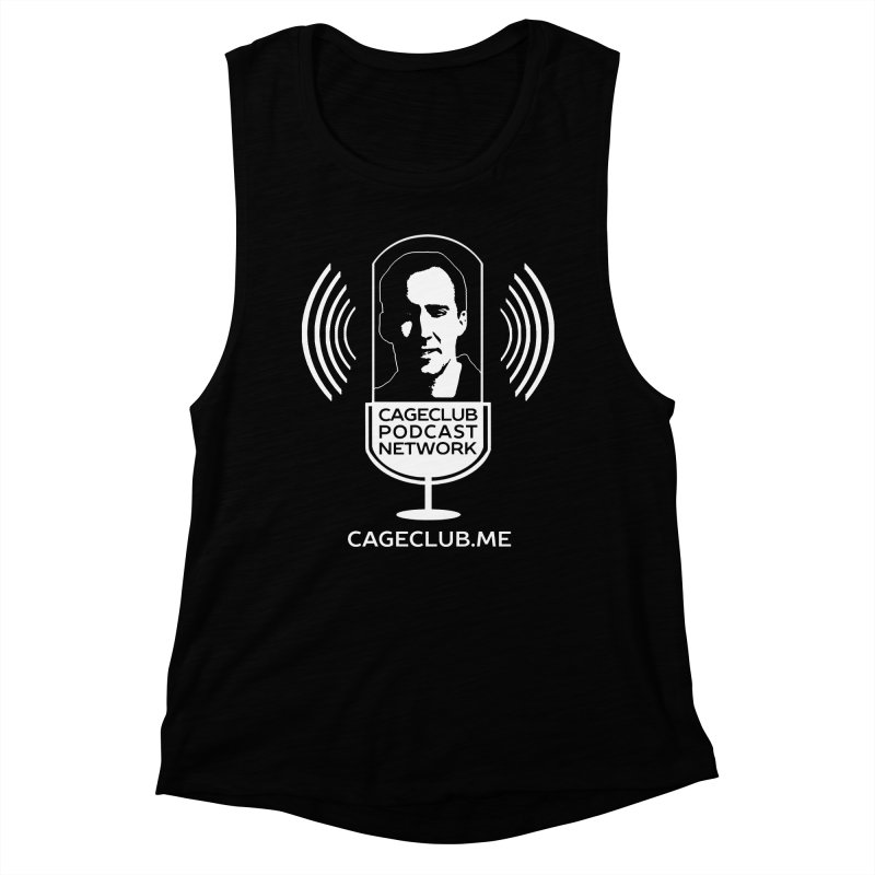I ❤️ The CageClub Podcast Network (white logo) Women's Muscle Tank by The CageClub Podcast Network Shop