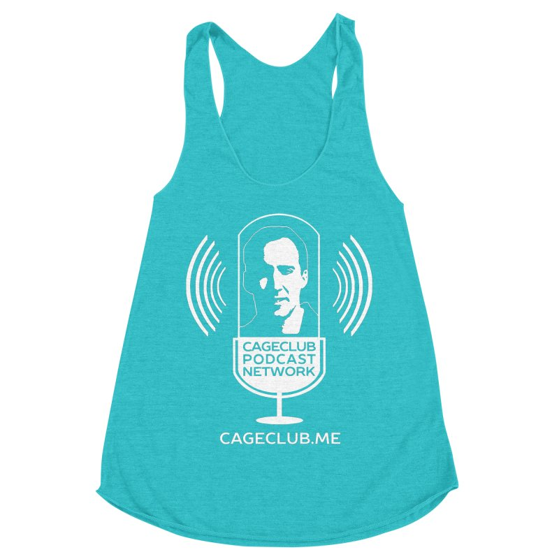 I ❤️ The CageClub Podcast Network (white logo) Women's Racerback Triblend Tank by The CageClub Podcast Network Shop