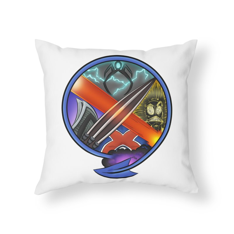 X is for Podcast: An Uncanny X-Men Experience Home Throw Pillow by The CageClub Podcast Network Shop