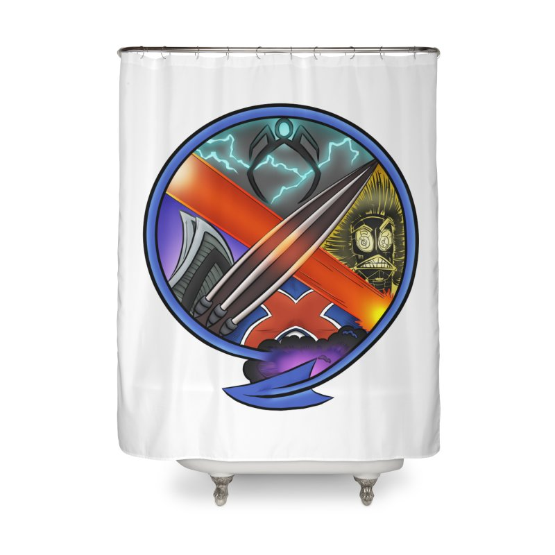 X is for Podcast: An Uncanny X-Men Experience Home Shower Curtain by The CageClub Podcast Network Shop