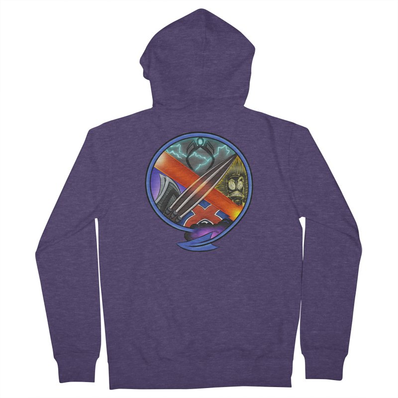 X is for Podcast: An Uncanny X-Men Experience Men's French Terry Zip-Up Hoody by The CageClub Podcast Network Shop