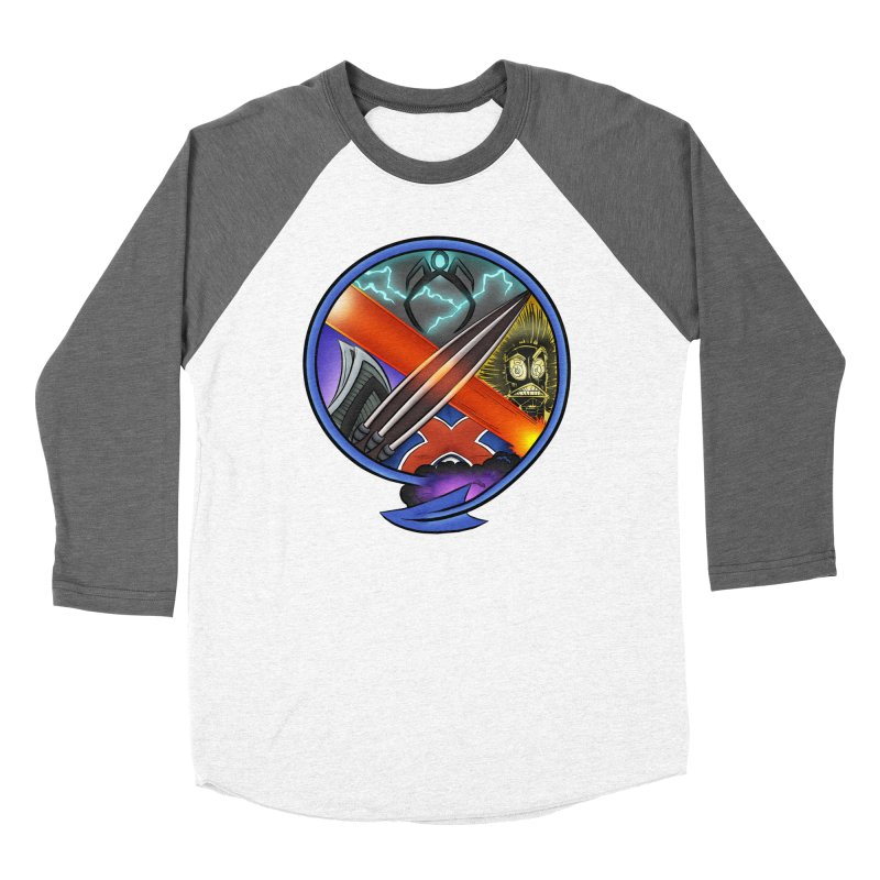 X is for Podcast: An Uncanny X-Men Experience Women's Baseball Triblend Longsleeve T-Shirt by The CageClub Podcast Network Shop