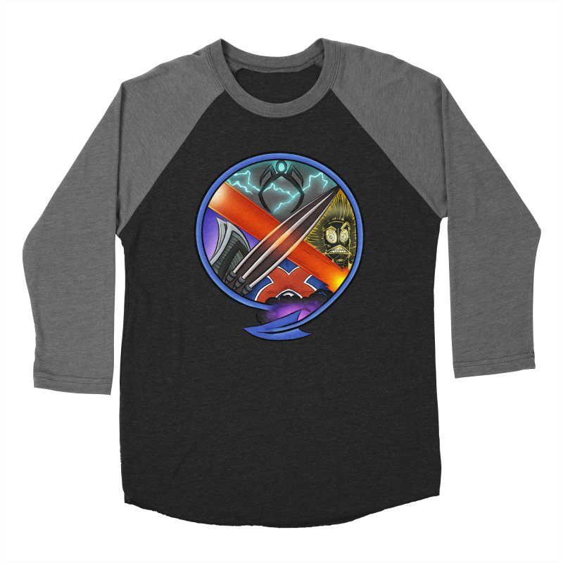 X is for Podcast: An Uncanny X-Men Experience Men's Baseball Triblend Longsleeve T-Shirt by The CageClub Podcast Network Shop