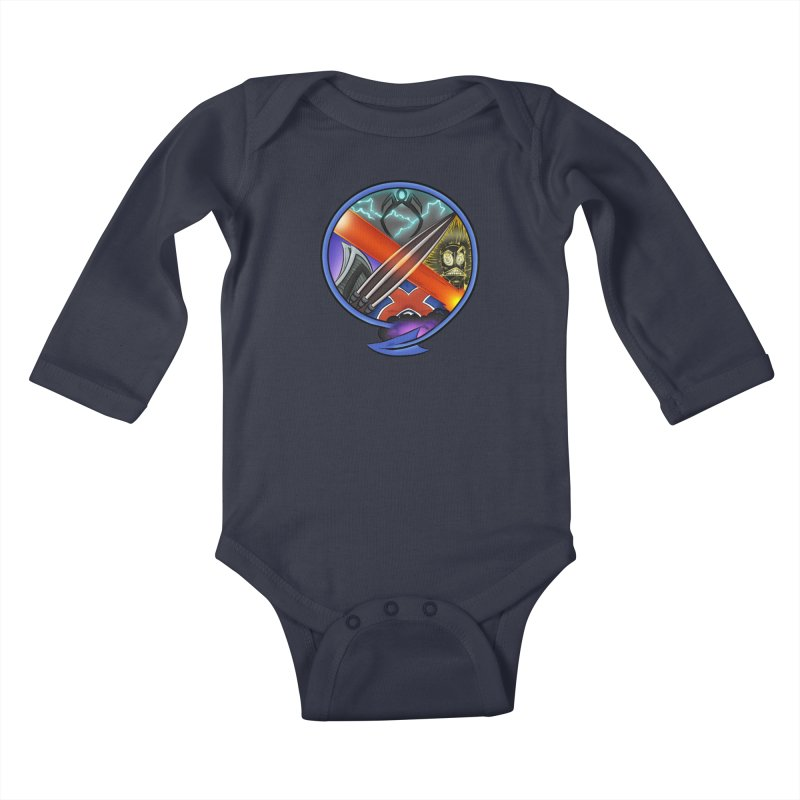 X is for Podcast: An Uncanny X-Men Experience Kids Baby Longsleeve Bodysuit by The CageClub Podcast Network Shop