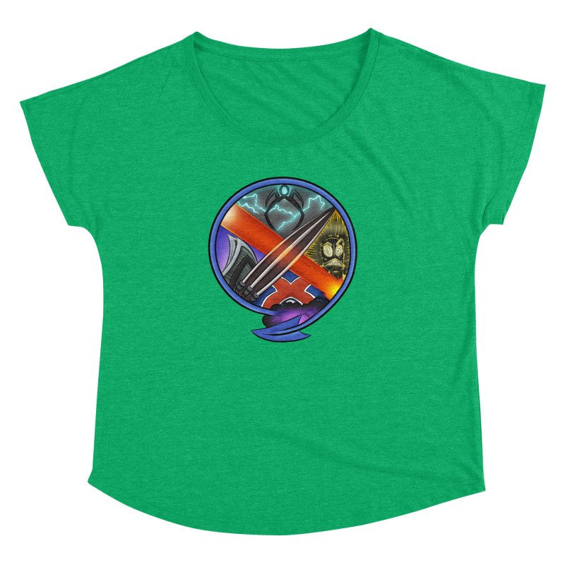 X is for Podcast: An Uncanny X-Men Experience Women's Dolman Scoop Neck by The CageClub Podcast Network Shop