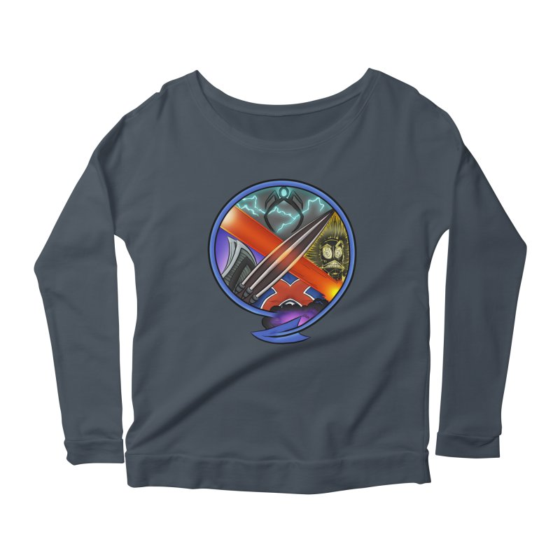 X is for Podcast: An Uncanny X-Men Experience Women's Scoop Neck Longsleeve T-Shirt by The CageClub Podcast Network Shop
