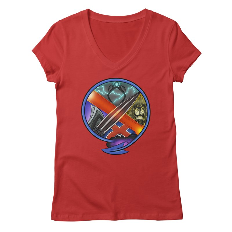 X is for Podcast: An Uncanny X-Men Experience Women's Regular V-Neck by The CageClub Podcast Network Shop