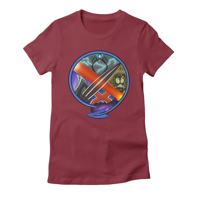 X is for Podcast: An Uncanny X-Men Experience Women's Fitted T-Shirt by The CageClub Podcast Network Shop