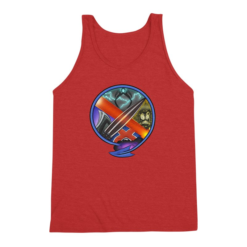X is for Podcast: An Uncanny X-Men Experience Men's Triblend Tank by The CageClub Podcast Network Shop