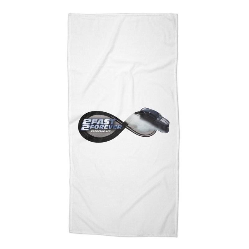 2 Fast 2 Forever: The Fast and the Furious Podcast Accessories Beach Towel by The CageClub Podcast Network Shop