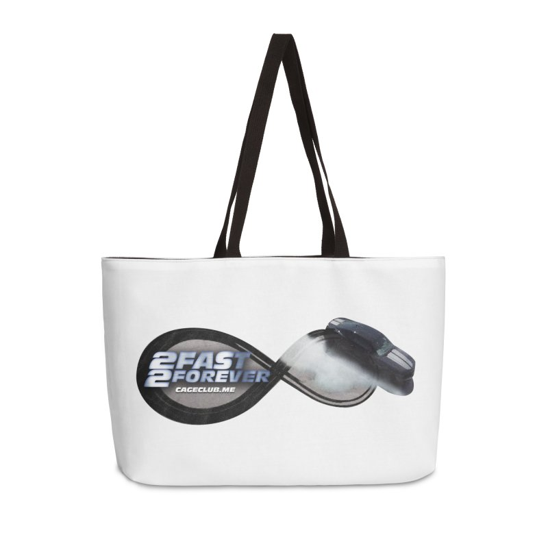 2 Fast 2 Forever: The Fast and the Furious Podcast Accessories Weekender Bag Bag by The CageClub Podcast Network Shop