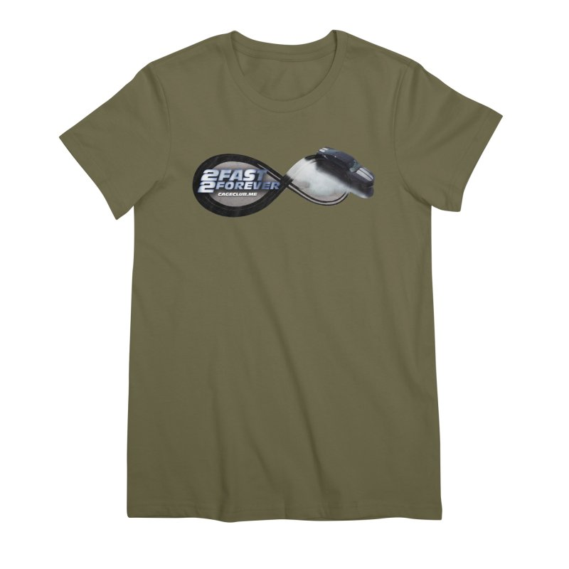 2 Fast 2 Forever: The Fast and the Furious Podcast Women's Premium T-Shirt by The CageClub Podcast Network Shop
