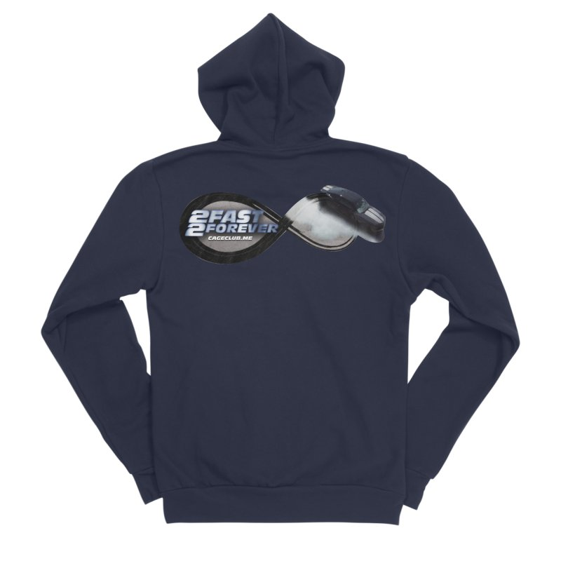 2 Fast 2 Forever: The Fast and the Furious Podcast Men's Sponge Fleece Zip-Up Hoody by The CageClub Podcast Network Shop