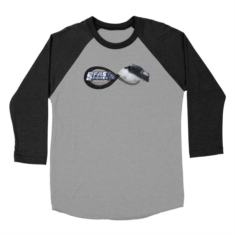 2 Fast 2 Forever: The Fast and the Furious Podcast Men's Baseball Triblend Longsleeve T-Shirt by The CageClub Podcast Network Shop