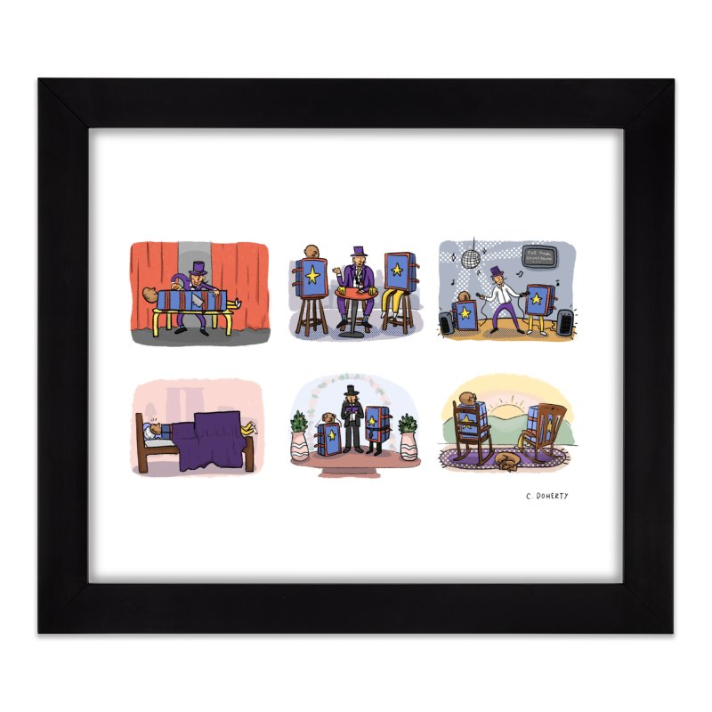 The Small World Theory Home Framed Fine Art Print by Cailin's Shop