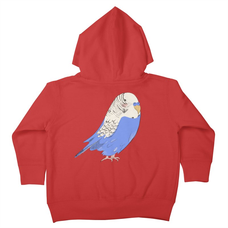 Stevie the Budgie Kids Toddler Zip-Up Hoody by Cailin's Shop