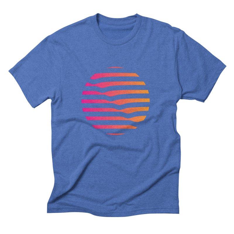 Geometric Circle Men's Triblend T-Shirt by Caio Call Design Shop