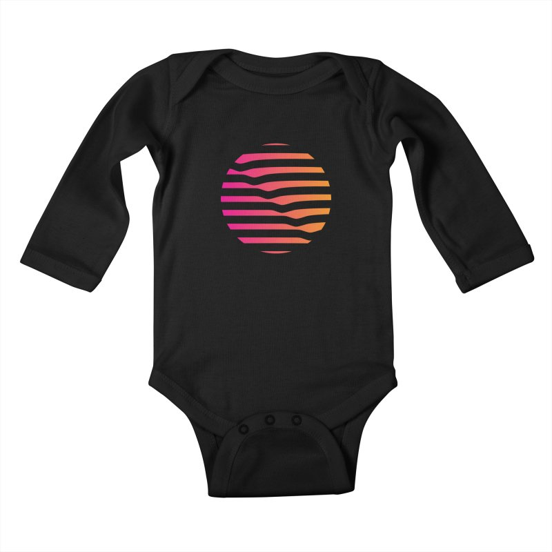 Geometric Circle Kids Baby Longsleeve Bodysuit by Caio Call Design Shop