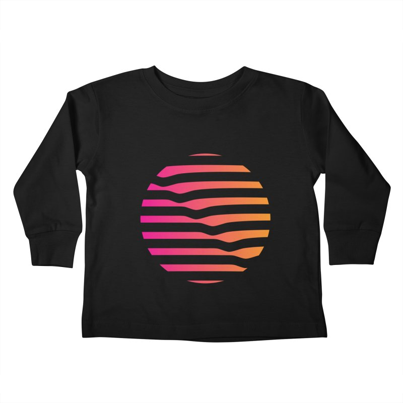 Geometric Circle Kids Toddler Longsleeve T-Shirt by Caio Call Design Shop