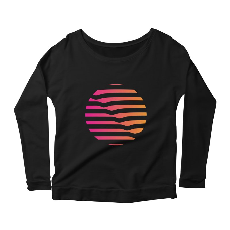 Geometric Circle Women's Longsleeve Scoopneck  by Caio Call Design Shop