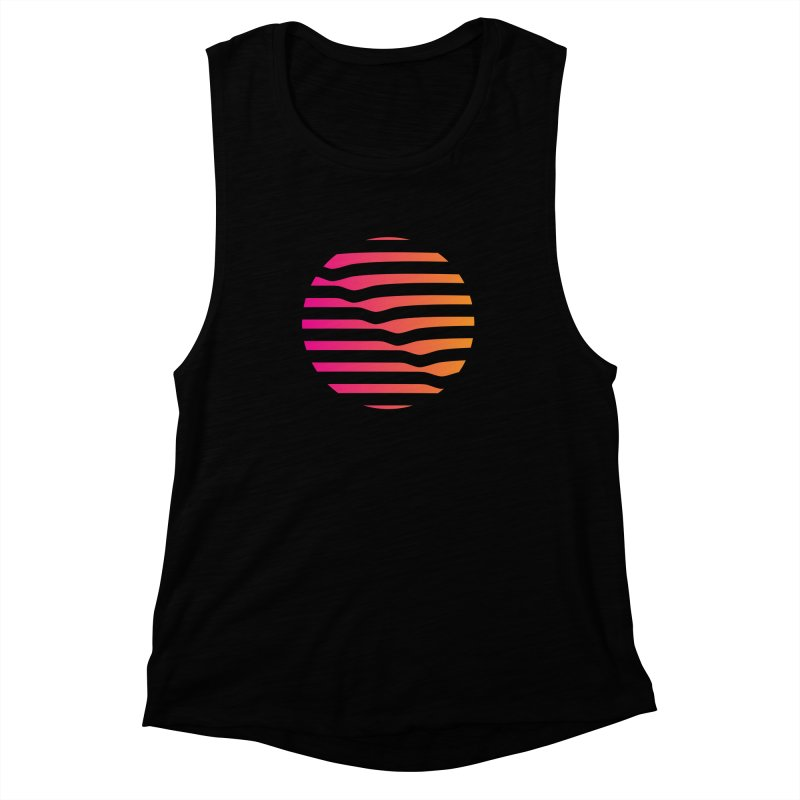 Geometric Circle Women's Muscle Tank by Caio Call Design Shop