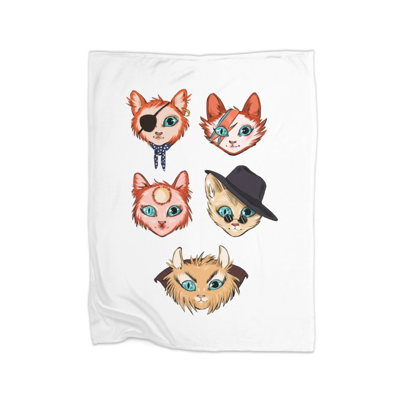 Bowie Cats Home Blanket by caitymayhem's Artist Shop