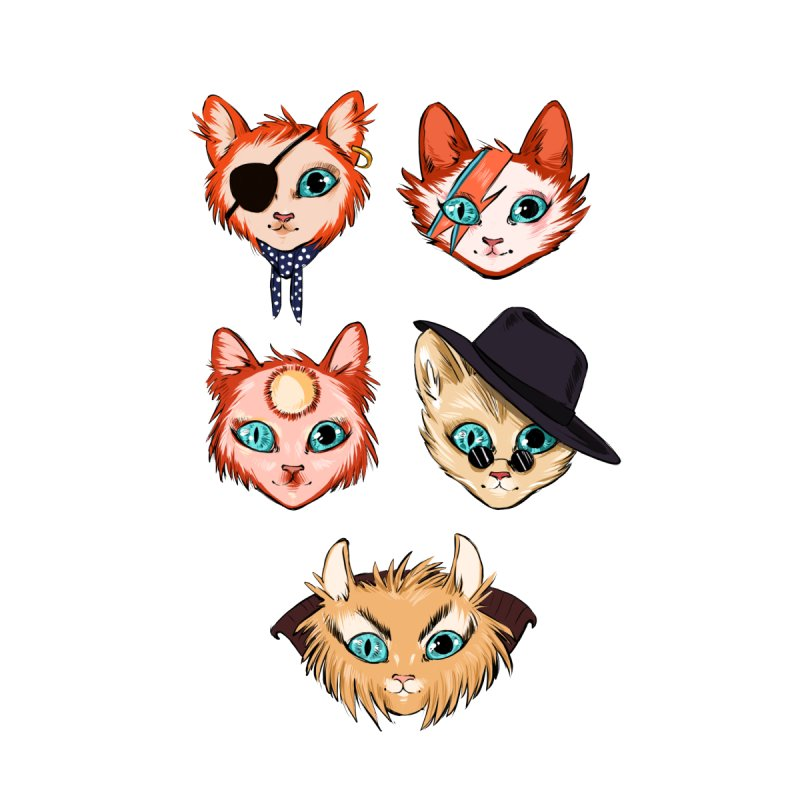 Bowie Cats Kids T-Shirt by caitymayhem's Artist Shop