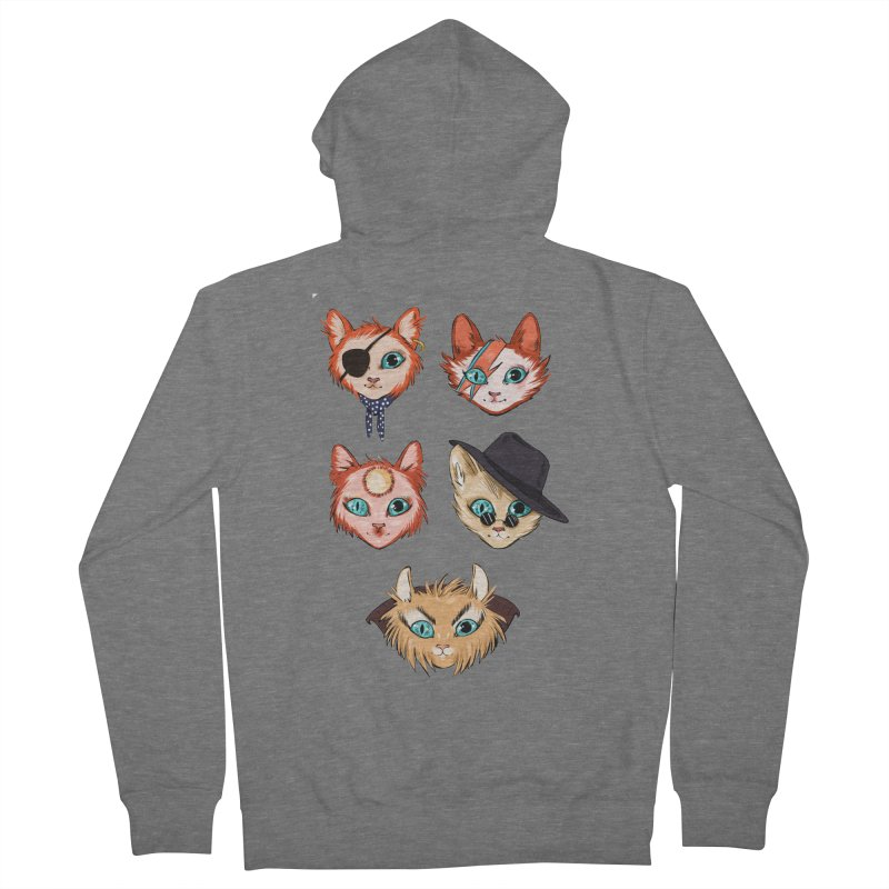 Bowie Cats Women's Zip-Up Hoody by caitymayhem's Artist Shop