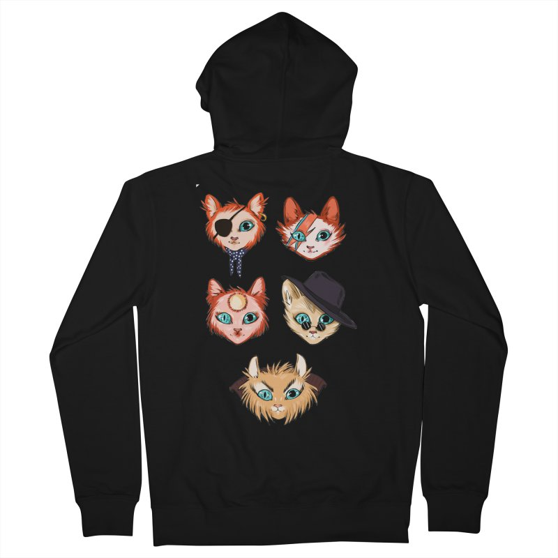 Bowie Cats Men's Zip-Up Hoody by caitymayhem's Artist Shop