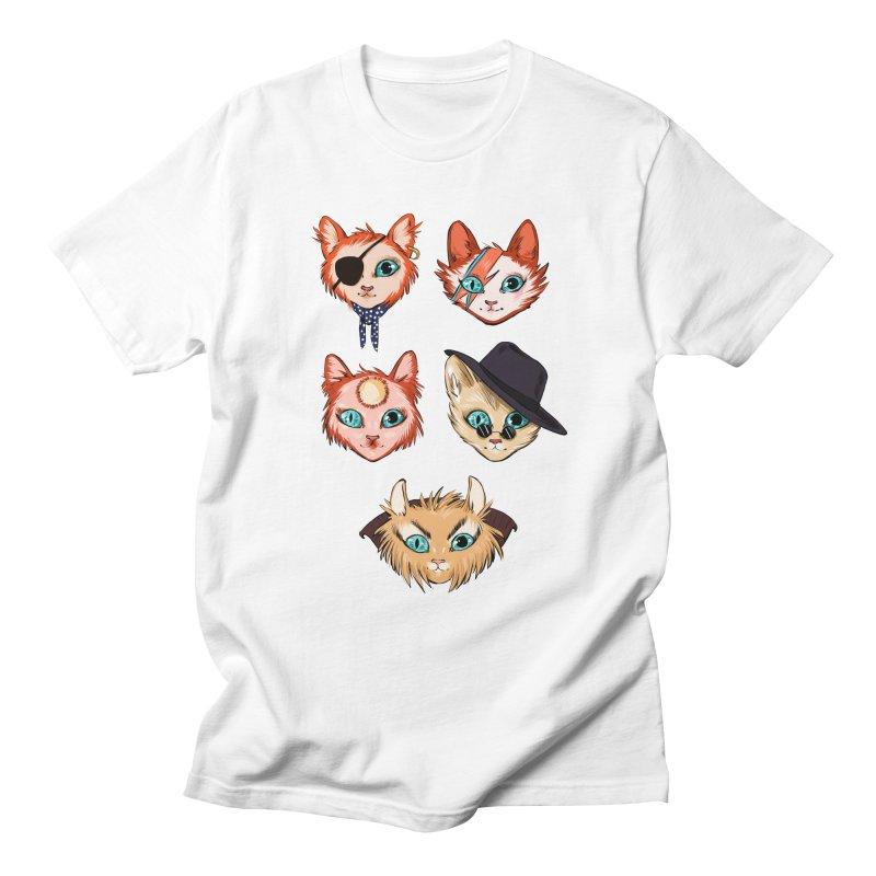 Bowie Cats Men's T-Shirt by caitymayhem's Artist Shop