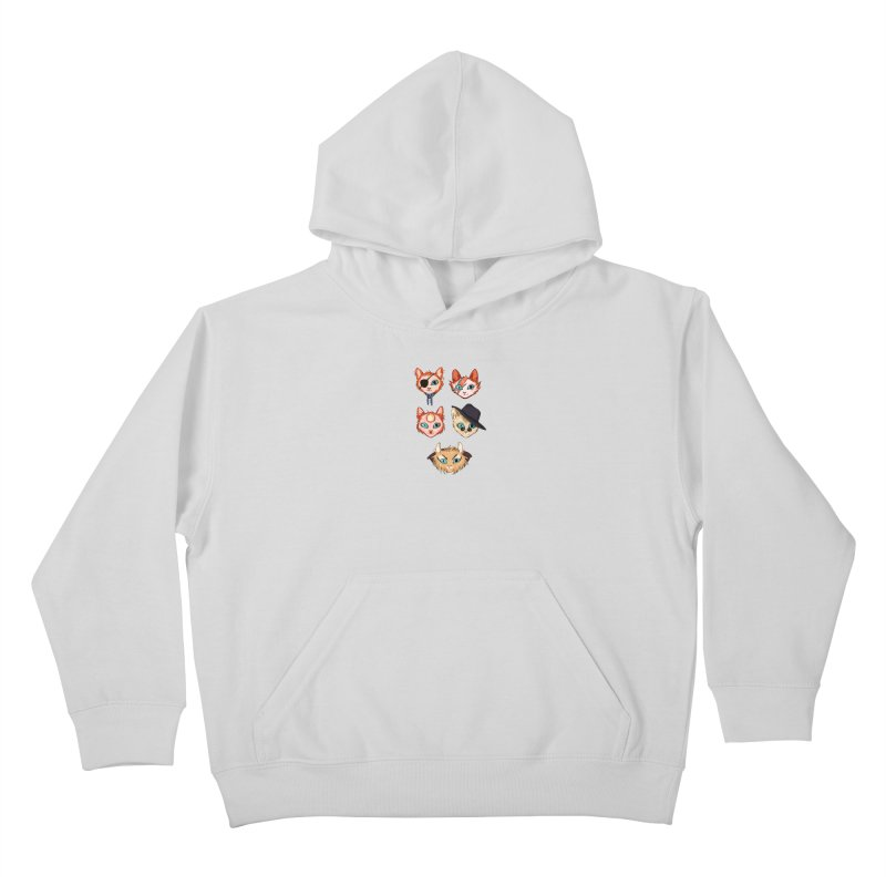 Bowie Cats Kids Pullover Hoody by caitymayhem's Artist Shop