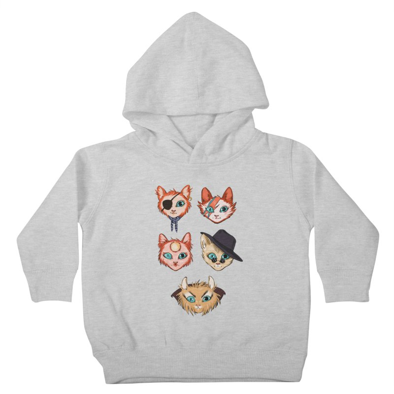 Bowie Cats Kids Toddler Pullover Hoody by caitymayhem's Artist Shop