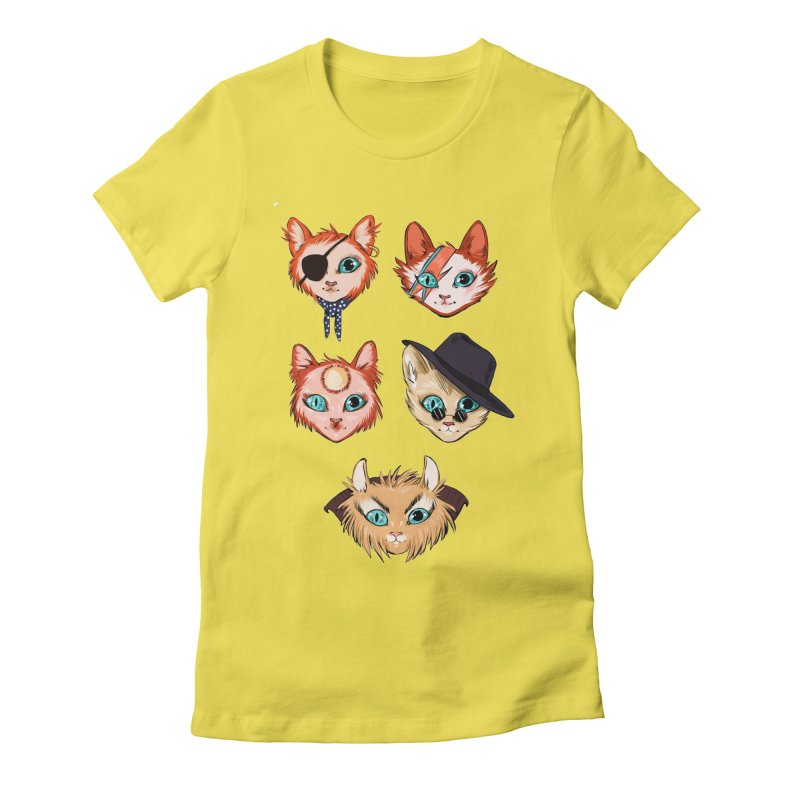 Bowie Cats Women's T-Shirt by caitymayhem's Artist Shop