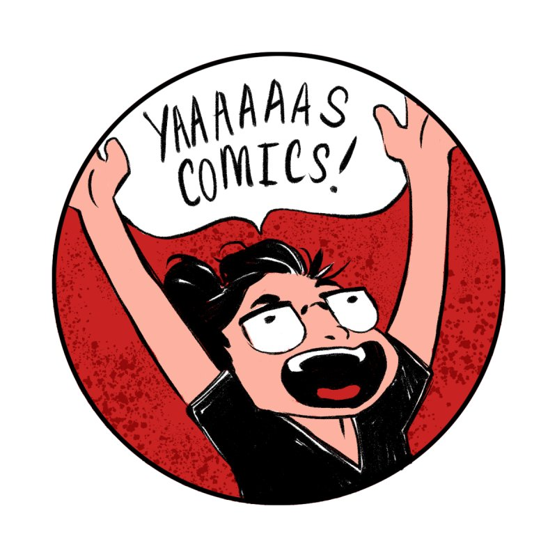 Yaaaaas Comics! Women's Scoop Neck by caitymayhem's Artist Shop